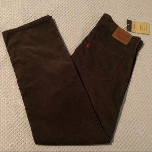 Levi's 549 Corduroy Brown Retro Low Loose Pants